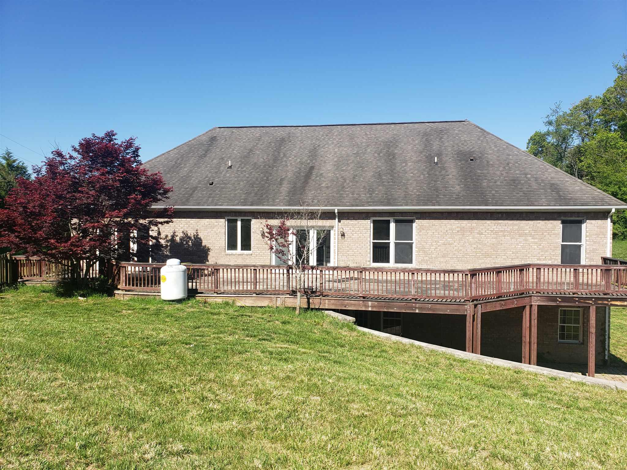 Beautiful Home in Riner with almost 7 acres of land. Could fence for livestock. All brick home with great views. Granite counter tops. Plenty of room for entertaining. Basement is almost completely finished with wet bar and bathroom. other rooms for spreading out.