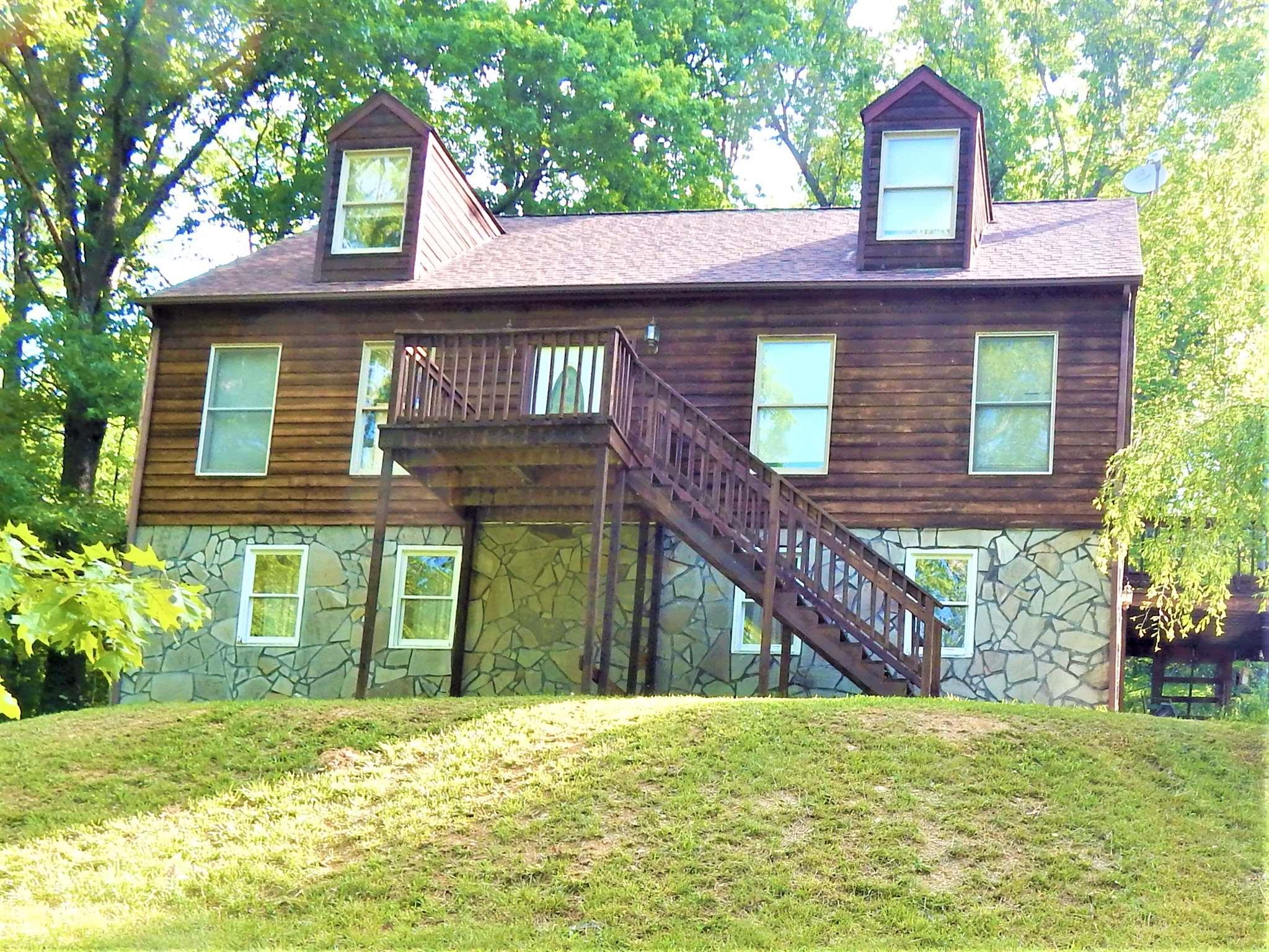 Looking for a secluded location but still close to town. This home offers 6.5 acres only five minutes from downtown Christiansburg. The home has just been fully stained on the outside to include all the decks and the roof was put on in 2018. On the main level enjoy a large living to entertain in. There is a eat in kitchen with tons of room that has a new dishwasher and all stainless steel appliances. Also on the main are two of the bedrooms. On the upper level you will find the two other huge bedrooms that has plenty of space for kids to sleep and play. In the basement you find a very large family room and bonus room. Outside is a beautiful country setting that offers seclusion.