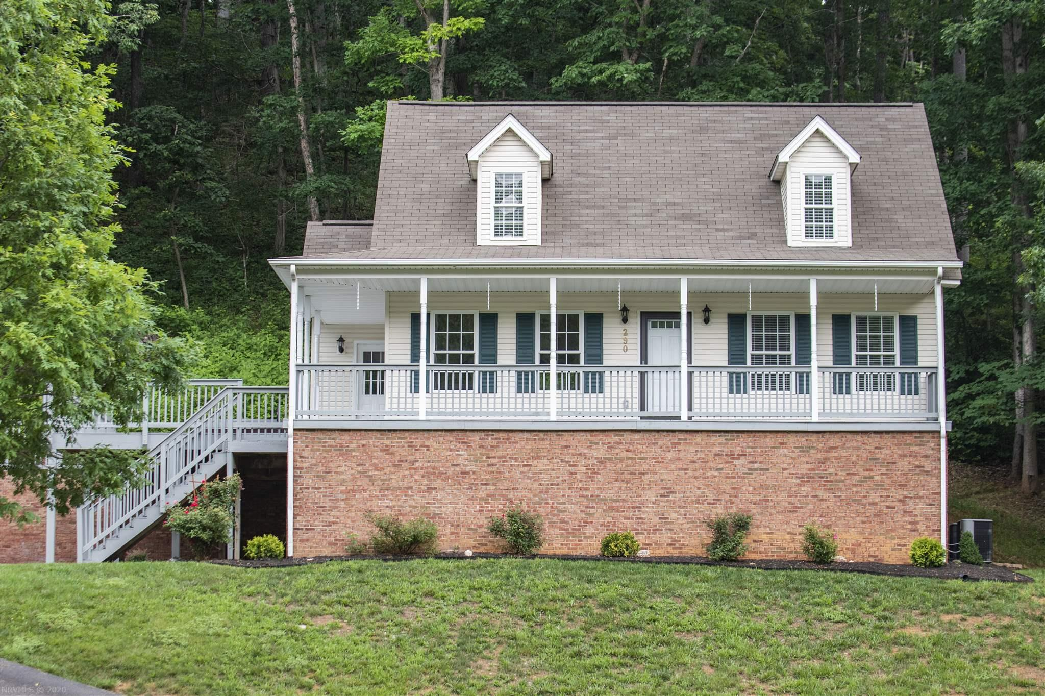 This Charming Christiansburg home sits just inside town limits in a family friendly neighborhood, within walking distance of John Lemley Town Park, and only minutes from shopping, dining, VT and I-81.  You will enjoy the open concept, to include a beautifully updated kitchen and full dining area with bay window, that flows right into the living room.  3 bedrooms and 2.5 baths, Master bedroom w/ En suite bathroom and laundry on the main level.  Partially finished basement, office and bonus room with closet that the current owners used as a non conforming 4th bedroom.  Garage, utility room, and extra attic space gives you plenty of storage.  Step outside onto the large wrap around front porch that leads to 24' x 15' deck with hot tub, perfect for entertaining or just relaxing after a tough day. Many upgrades, freshly painted and professionally cleaned.  Absolutely, move in ready!