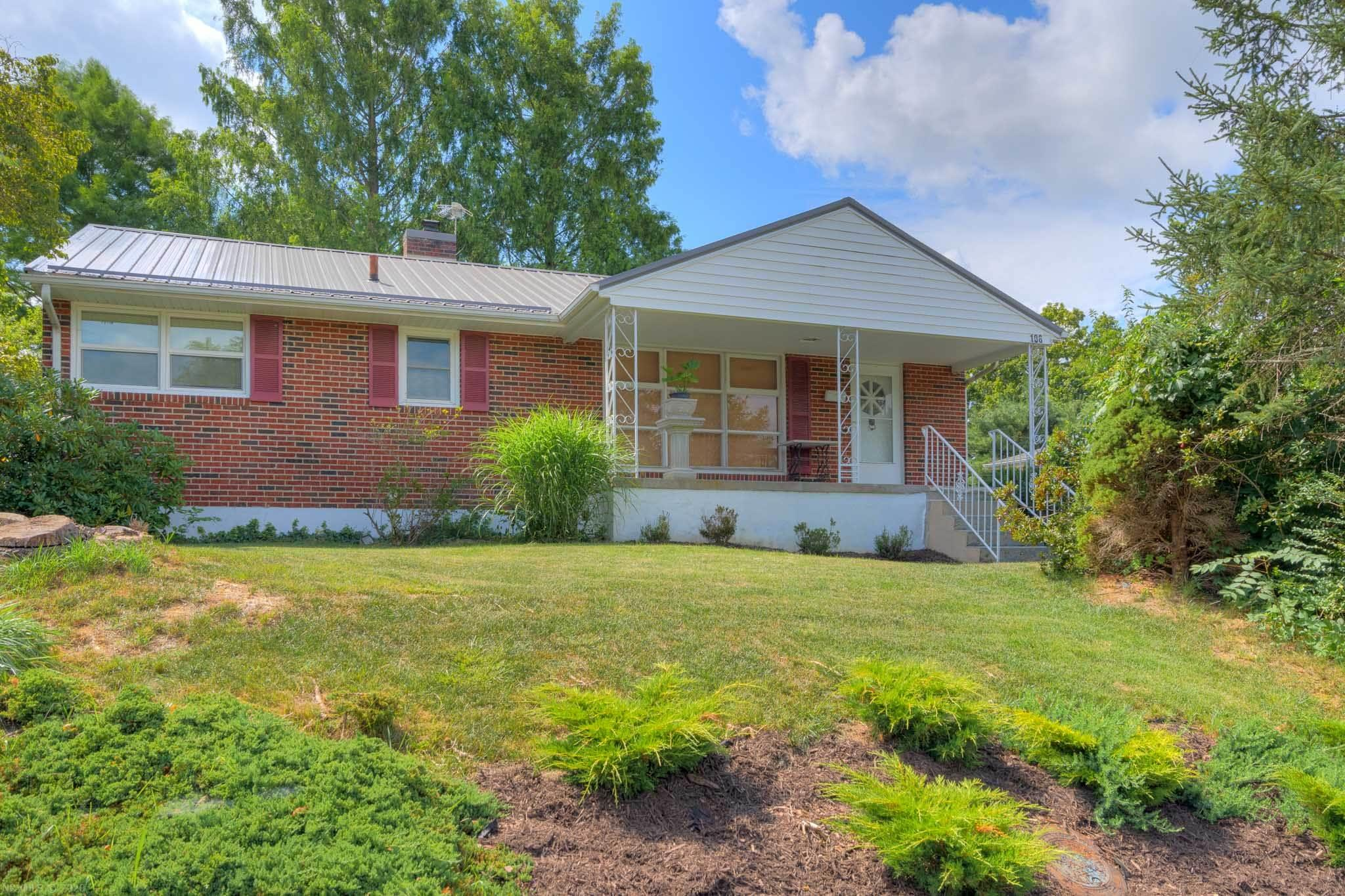 If you are looking for a solid brick ranch with two full baths look no further;  106 Arnold Avenue is just waiting for you to arrive. Nestled in a popular Radford VA neighborhood amid mature trees with a full basement and fenced yard this charmer has so much potential. A large living area with gleaming oak floors and picture window views is sure to impress. Fantastic kitchen space offers an abundance of cabinet and counter space. Three generously sized bedrooms and a full bath complete the main level. The basement has a full bath, large laundry room with sink and plenty of room for recreation or media area. Relax on the deck and enjoy the peacefulness of the shaded backyard. Two storage buildings to keep your outside toys and equipment out of the elements. Most windows have been replaced, new roof 2020, new sewer line 2019. Hurry, this one wont last long!