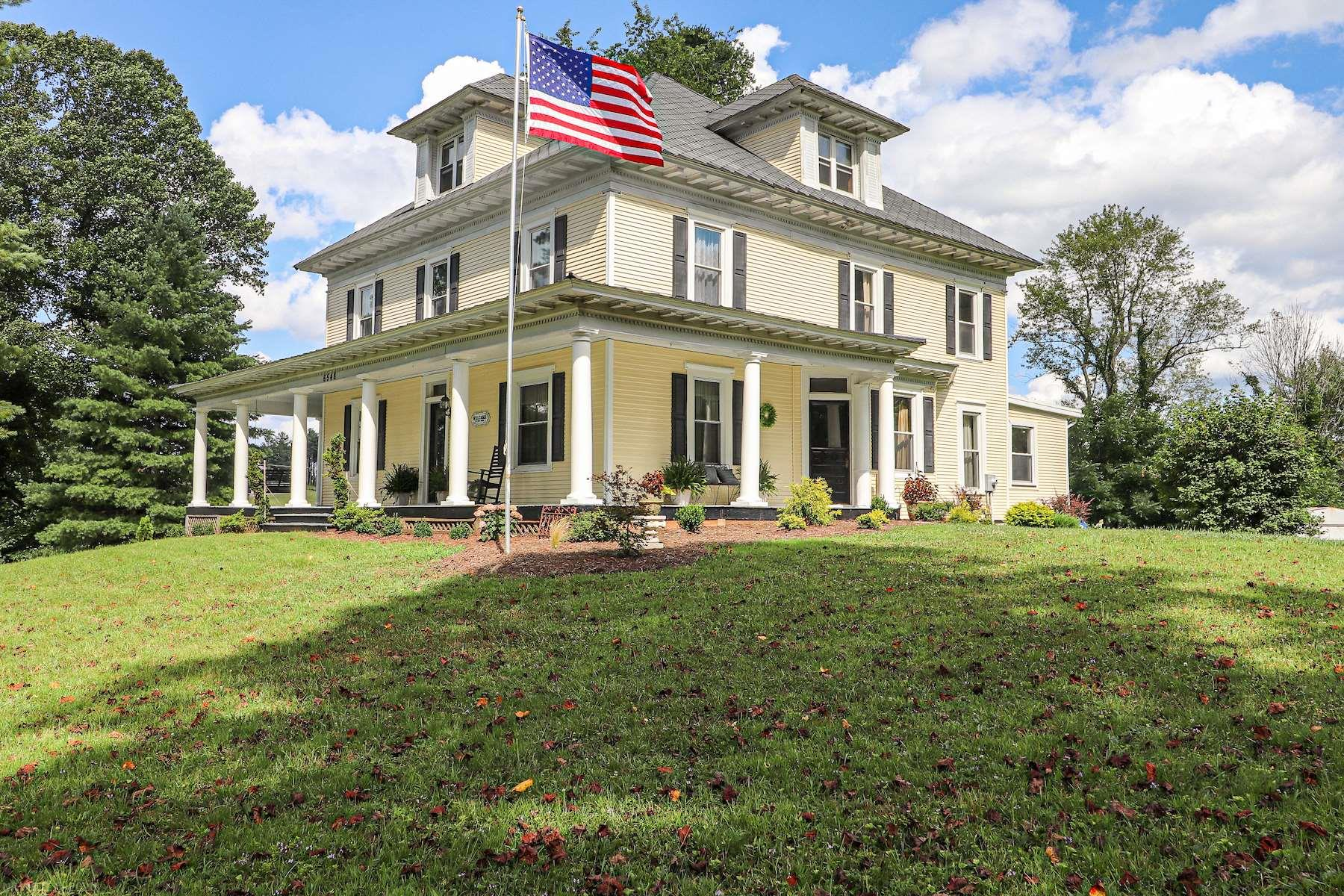 This tranquil late 1800s Victorian home exhibits history in Floyd County.  The home offers 5 bedrooms and 3 full baths, breakfast nook, dining area, kitchen, 2 laundry areas, living room and attic space.  The home is settled on over an acre and offers two buildings for storage, one of which was once the Post Office and Bank of Check.  This spacious home is perfect for a large family or for a potential Air BnB.  Entertaining is effortless in this home as it affords historic topics regarding the home's beautiful Victorian design.  The wrap around deck is perfect for enjoying a morning cup of coffee and entertaining purposes.  Being only minutes from Roanoke, Town of Floyd and Christiansburg this property offers the peacefulness of the country while being centrally located.  If you are looking for country living with a spacious home for your family or guests to enjoy this home is for you!