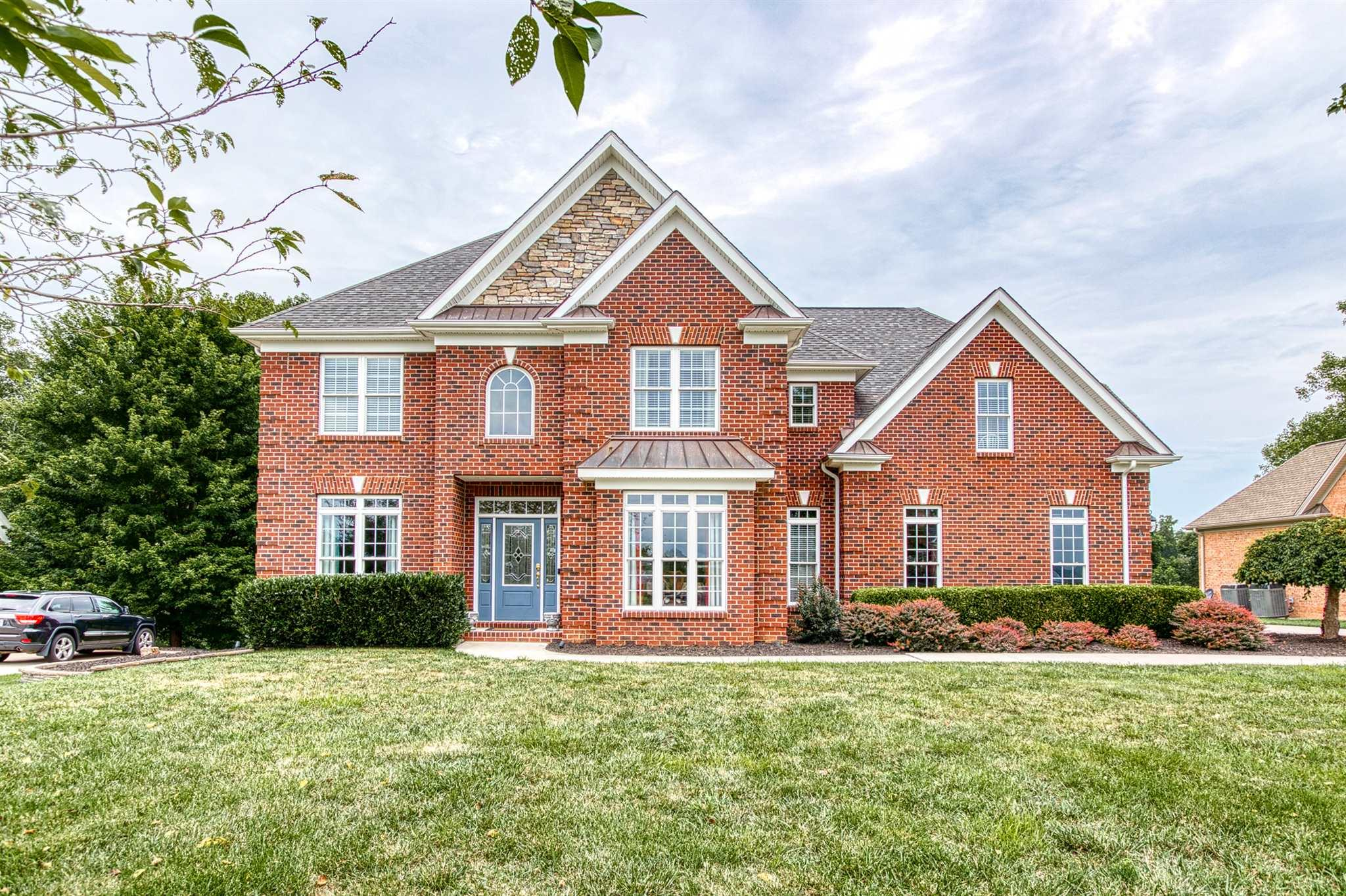 Fabulous 5 BR home located in prestigious Heron's Landing.   Open floor plan, beautiful kitchen with cherry cabinets , large island, large pantry, granite tops, SS appls. (dishwasher brand new), tile backsplash and tile floors, large master suite with sitting area, master bath has double sinks and vanity area, walk-in tile shower, guest bath with double sinks, lower bedroom with french doors, huge closet off lower bath, brand new carpet, fresh paint and new front load washer and dryer.  Walk to the pool and Pete Dye River Course of VA Tech. Heron's Landing is the New River Valley's best kept secret offering what no other subdivision offers including Distinctively Dye golf course, gorgeous river and mountain views, pool, community center, sidewalks, curbing, and street lights.  Centrally located - Blacksburg 20 mins., Radford 10 mins.