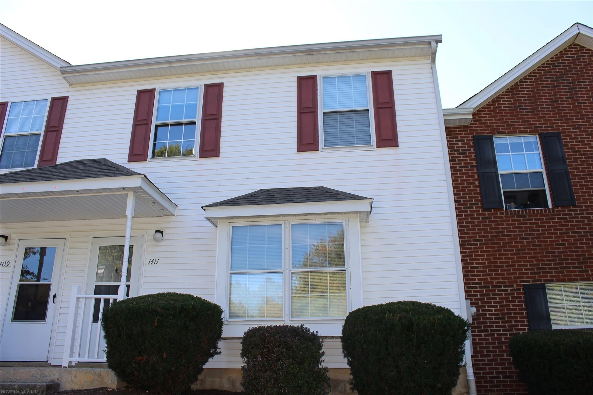 Four-bedroom townhome in good condition and located near bus line with stops on Patrick Henry just two blocks away, very convenient to Virginia Tech campus, downtown Blacksburg, restaurants, shopping, Starbucks, gym, Carol Lee Doughnuts, Food Lion, Rt. 460.  Pheasant Run Crossing is one of Blacksburg's most desired townhome neighborhoods. Spacious open living/dining room w/passthrough to kitchen. A convenient storage closet is attached at the back.  Leased through July 25, 2021, at $1,800 per month. Tenants said they would like to extend their lease for an additional year. $1,800 Deposit.