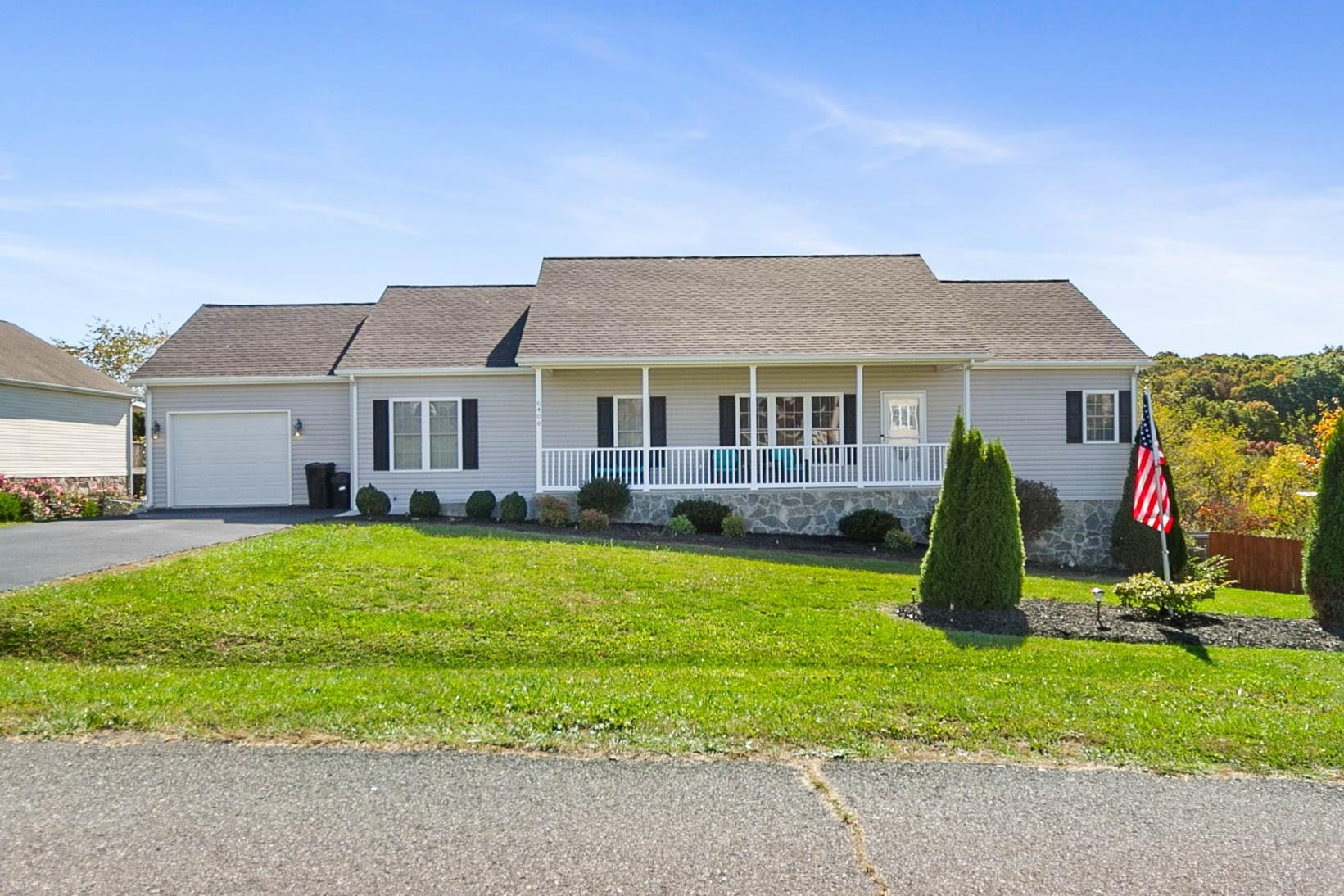 IMMACULATE LIKE NEW RANCH in Dublin is ready for you to move in. Get 3,428 SF of Room to spread out w/4 BR, 3 Baths, Family Room, Media Room, Sun Room, Office, & EXTRA STORAGE! Enjoy your Master Bedroom Suite w/2 Walk In Closets, & Master Bath Room w/Garden Tub & Separate Dble Shower. You can use 1 WIC as Office/Nursery/Work-Out Room. Open Floor Plan of Living Room/Kitchen/Dining Room & Sun Room. You will love the L-Shaped 10.25' long Pantry off Laundry Room which is off the Kitchen. Downstairs-Can be Mother-In-Law or Teenager Heaven w/HUGE Family Room where you can put pool table+ping pong table, Large Bedroom, Custom Bath Room & the Media room comes w/ 2 year old Sectional Couch. Projector & Screen are negotiable. Outside-enjoy your fenced rear yard, paved DW, Covered Concrete front porch & Covered Rear Concrete Patio. Excellent location -7 minutes & 4 miles from I-81 at Dublin Exit. Basement was professionally finished in last 2 years. No showings after 6:30 PM due to small child.