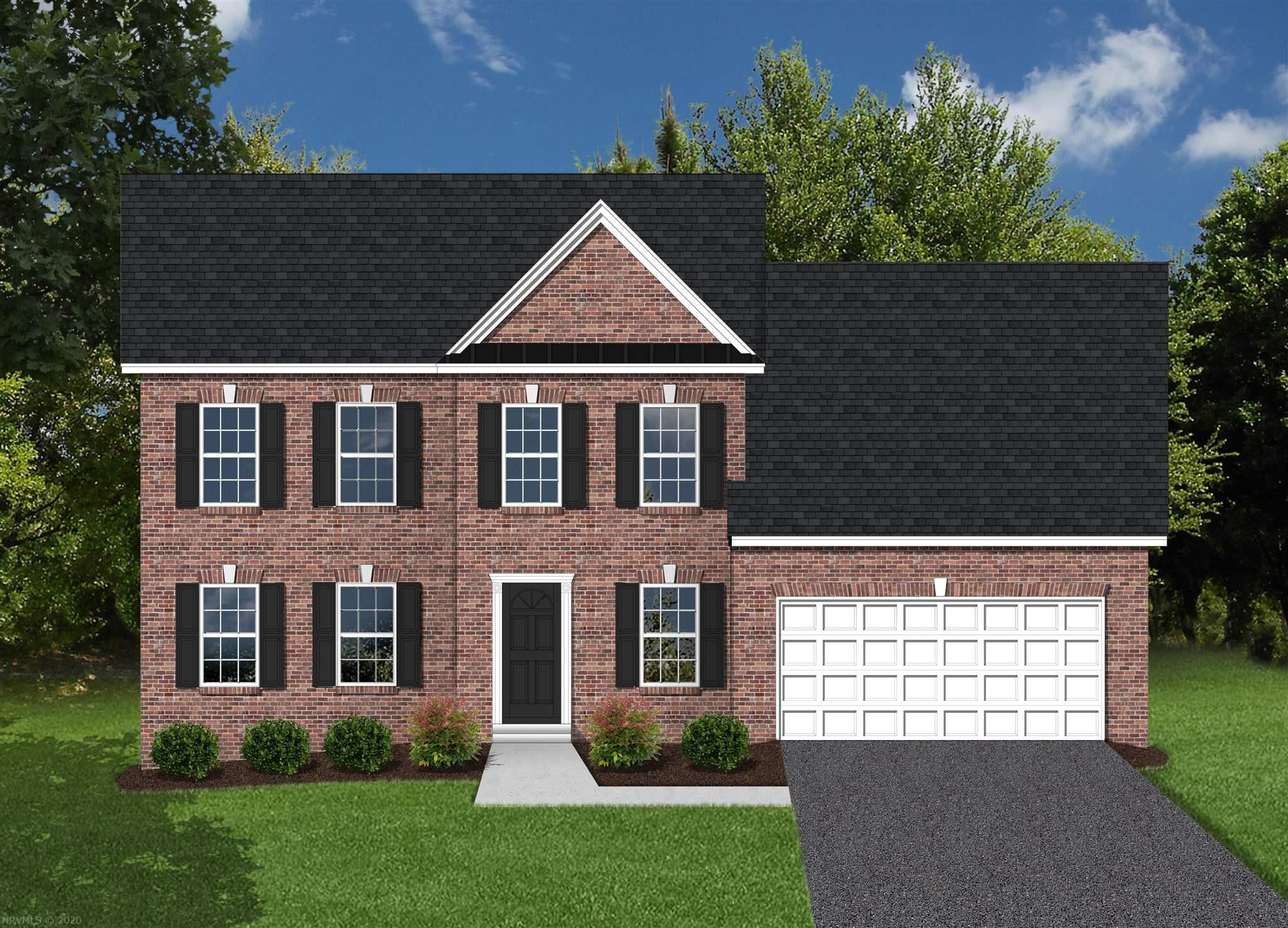This is a pre-construction listing that is not yet built. Our Williamsburg Option 3 style home offers 2,131 square feet above grade, and 9' framed walls on first floor with smooth drywall finish. This house plan incorporates hardwoods in the foyer, dining, kitchen and half bath, ceramic tile in the baths and laundry, and carpet throughout remaining areas. Oak treads to the second floor where applicable.  The master shower offers ceramic tiled walls!  Premium Tahoe cabinets by Timberlake in the kitchen make the home even more beautiful. The kitchen counter tops are luxurious granite and the bathrooms are cultured marble. Crown molding can be found in the dining room and master bedroom, as well as chair rail with wainscoting in the dining room. The exterior finishes consist of double-hung windows, brick, siding, and architectural shingles. Kensington is conveniently located in Christiansburg off Mud Pike Road and is adjacent the Christiansburg Middle School.
