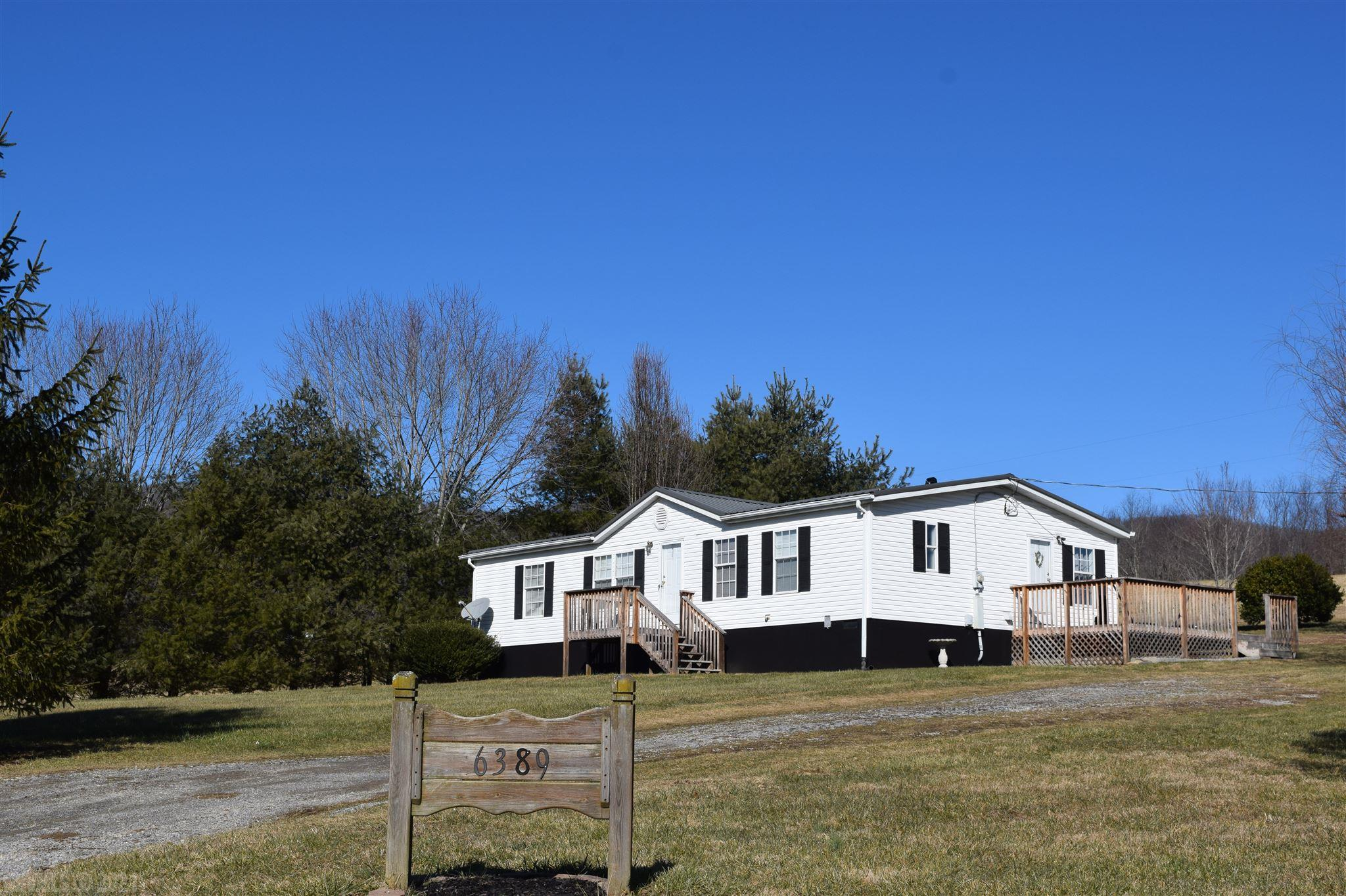 Beautifully maintained 3 BDR / 2 BTH home on permanent foundation with 1 acre. A new well and heat pump from 2016, a new metal roof and decking from 2017.   A great starter home or investment property potential!  A shed with room for tools and mower. The pastoral beauty of the site, the views of Walker Mt. and the fields brings peace to your heart.  This home is conveniently located to the Town of Dublin, New River Community College, Volvo, shopping and Interstate 81.   Call today to set your appointment to view this home!