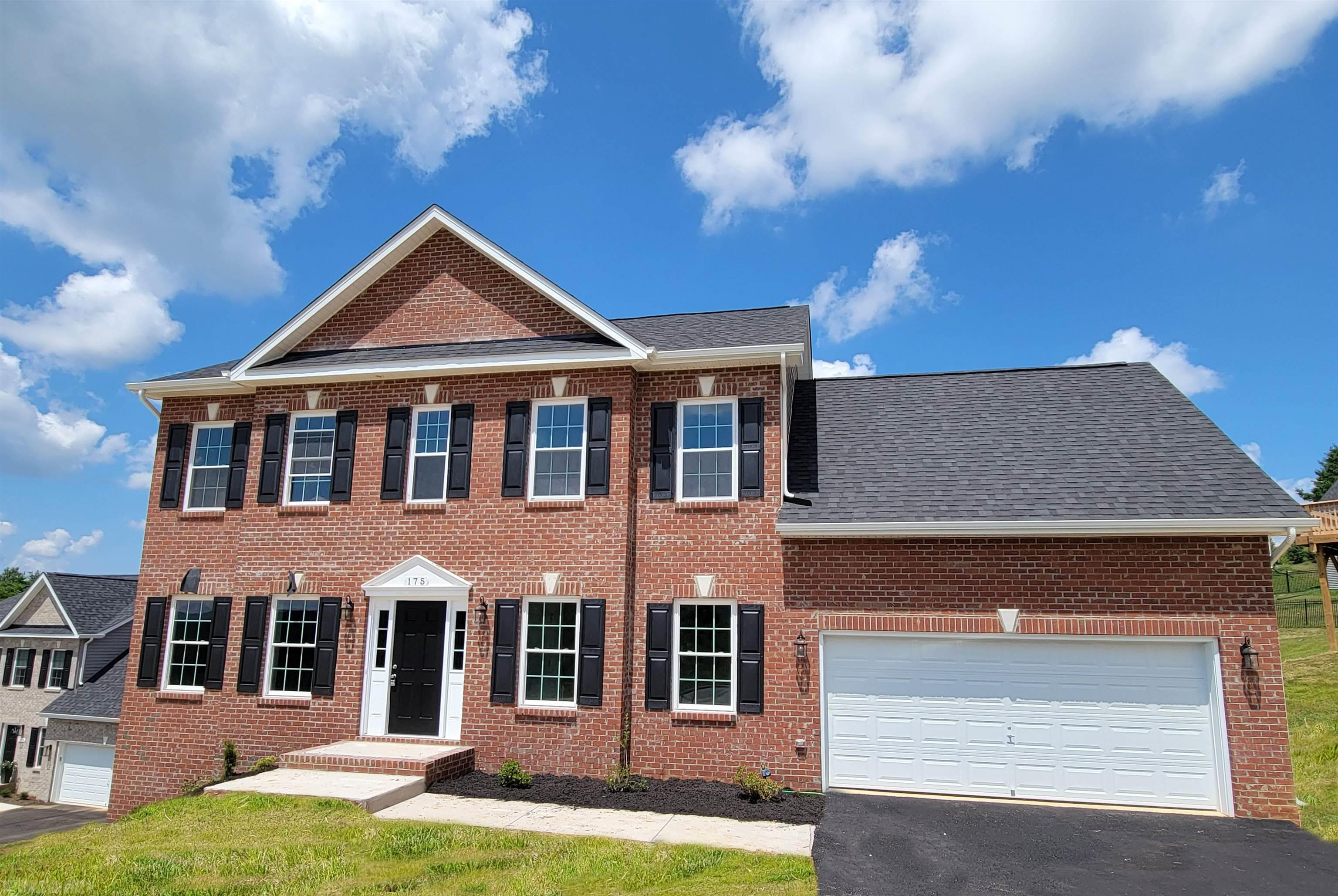 This is a pre-construction listing that is not yet built. Our Lexington B style home offers 2,228 square feet above grade, and 9' framed walls on first floor with smooth drywall finish. This house plan incorporates hardwoods in the foyer, dining, kitchen and half bath, ceramic tile in the baths and laundry, and carpet throughout remaining areas. Oak treads to the second floor where applicable. The master shower offers ceramic tiled walls! Premium Tahoe cabinets by Timberlake in the kitchen make the home even more beautiful. The kitchen counter tops are luxurious granite and the bathrooms are cultured marble. Crown molding can be found in the dining room and master bedroom, as well as chair rail with wainscoting in the dining room. The exterior finishes consist of double-hung windows, brick, siding, and architectural shingles. Kensington is conveniently located in Christiansburg off Mud Pike Road and is adjacent the Christiansburg Middle School.