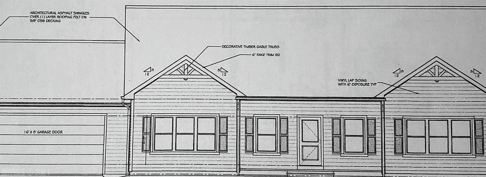Riner VA New Construction!   Enjoy the comforts of nearly 1,700 sq ft of this main level ranch home with attached garage.   3 BDS / 2 BTHS offering 9' ceilings, 2x6 exterior walls, white oak hardwood flooring with open floor plan design.  All of this on nearly 2 acres of property! Private well and septic will serve the property.  Construction has already began, schedule your appointment!
