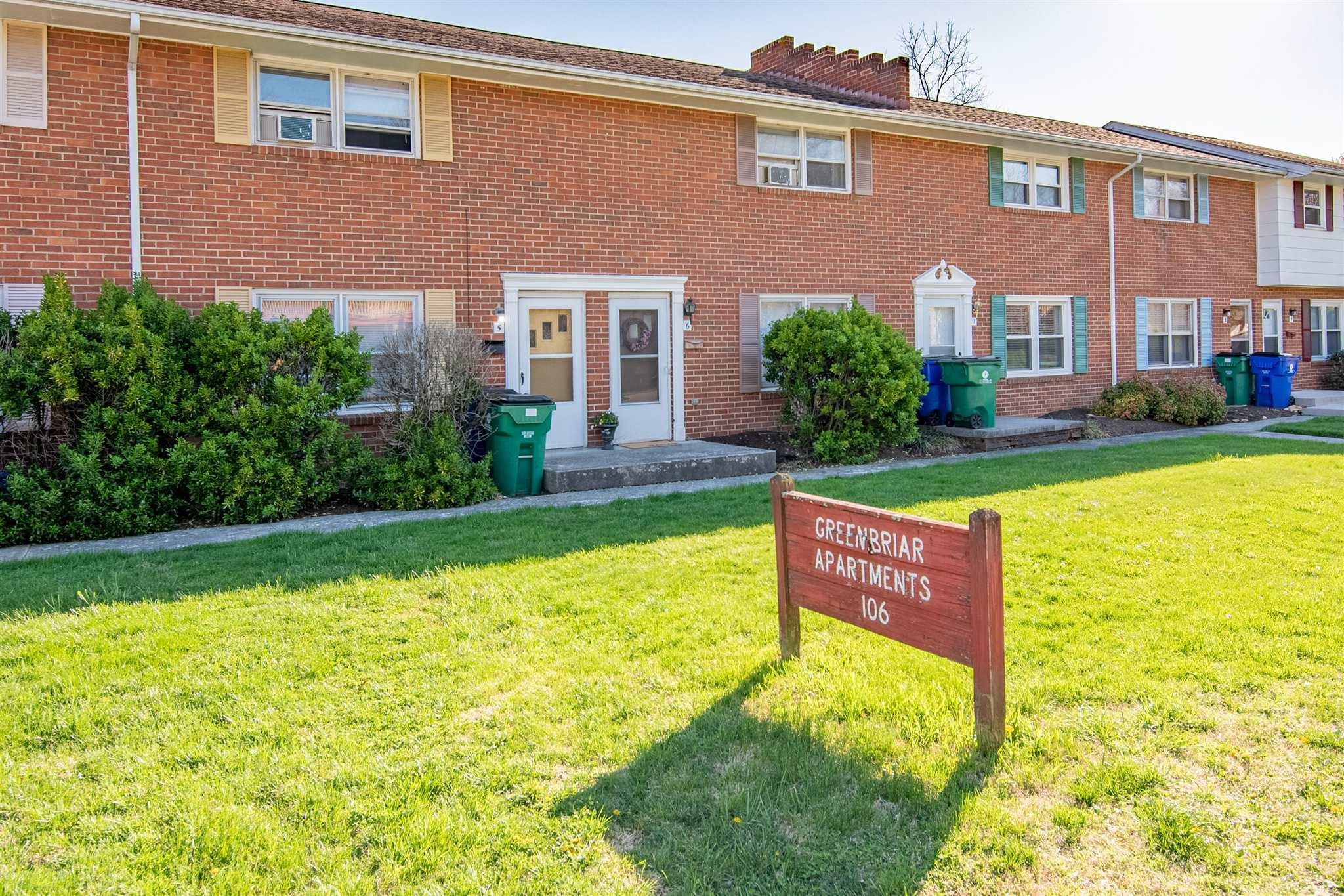 Rare find! Cute townhouse in a great location in Blacksburg, walking distance to downtown and right in front of the bus stop. Recently painted with new floors, new AC unit and new electric baseboard in master. There are 2 parking spaces in the back right at the back door.