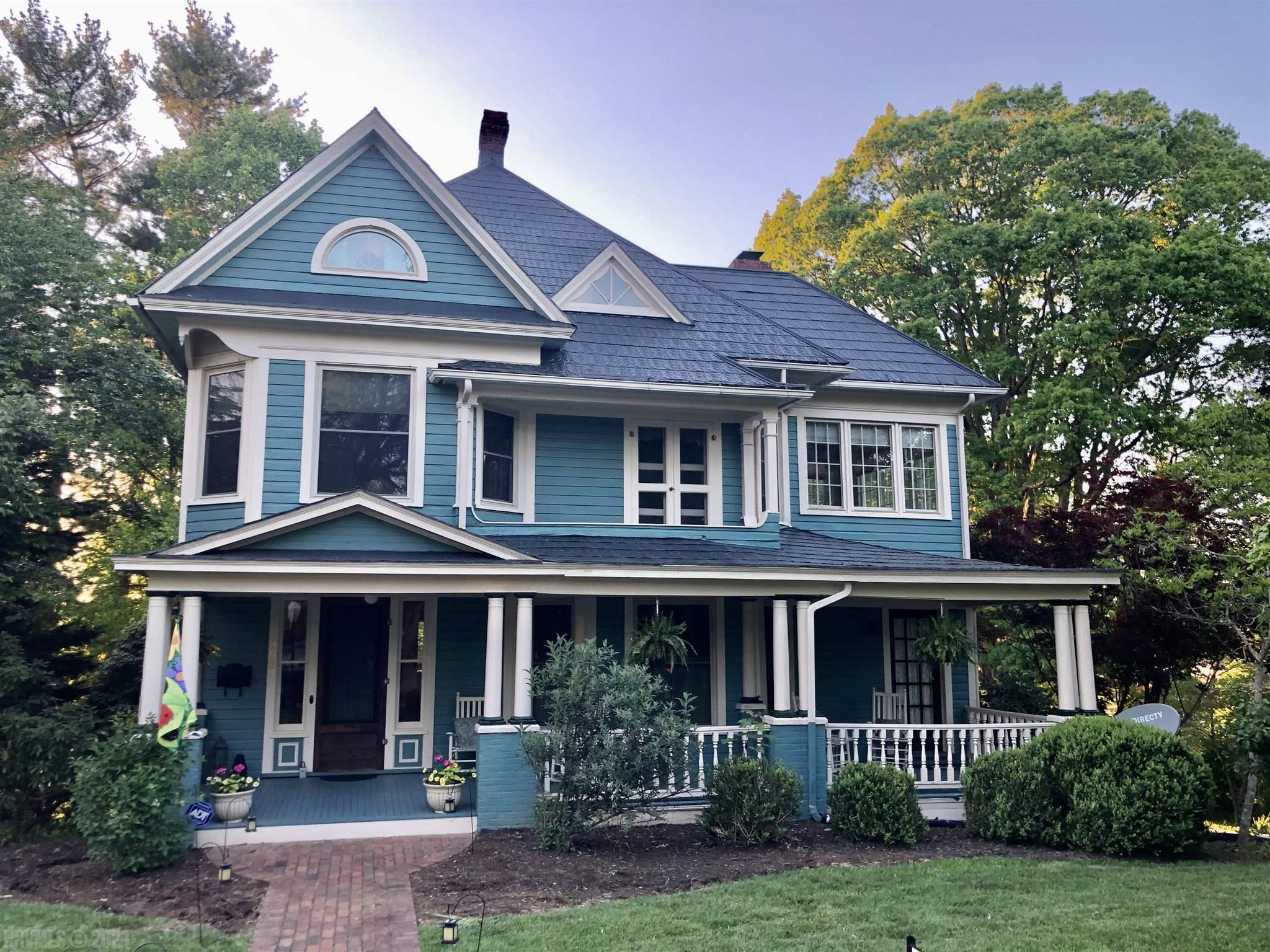Exquisite Victorian! Character of the Original Home has been Maintained-Remodeled! 9'ceilings,Crown Molding, Hardwood Floors, Full Walk Out Basement, Cherry Kitchen w/New Granite Countertops, Butler's Panty w/Granite.  Gas Hot Water Furnace & 2 New Heat Pumps (4 floors). Front & Rear Stairs. Walk-up Attic w/NEW Master Suite, Window Seats, lots of closets, Full Bath w/Tile Shower! 4 Bedrooms and 3 Full Baths, Sun Porch, Office, Wine Room, and More! Home rewired and replumbed. Laundry moved to the 2nd floor-off the bathroom. All NEW Windows (except for Sun Porch) Beveled Glass in Doors, Curved Walls, Built-in China Cabinet, 20'x22'Rear Deck over Carport, Concrete Driveway. Professional Landscaping, Magnificent Mature Trees, Brick Sidewalk,Concrete Driveway. Newly Painted Roof May 2021. See complete list of Improvement in Documents. More pictures and virtual tour to come. Call for your private tour today!