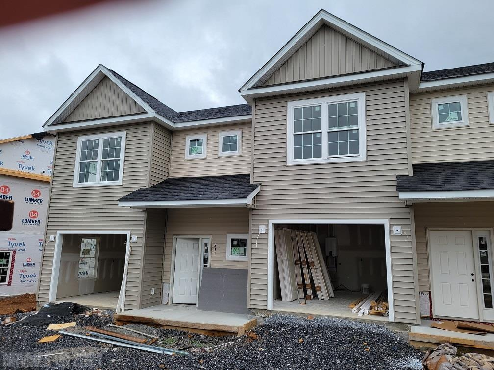 New Townhomes currently under construction. End unit, 3 bedroom 2.5 baths. LVP on main level, carpet on steps and bedrooms on upper level. Roll vinyl in laundry and bathrooms.  Granite counter tops in kitchen and baths. Single attached garage.