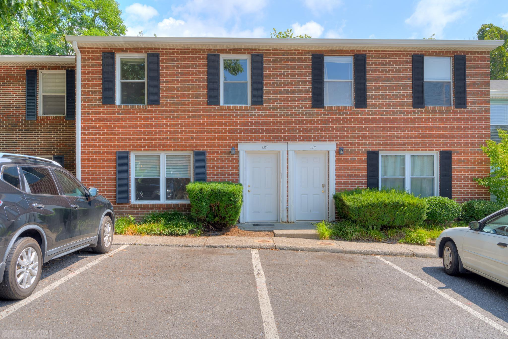 Nicely updated 4BR/2.5BA townhouse in Blacksburg's Clover Valley Estates.  Main level offers spacious living room and family room with laminate floors, laundry closet, updated 1/2 bath, and completely remodeled kitchen with contemporary design including offset vinyl tile floor, brushed nickel hardware and nice bright countertops.  Upper level includes 4 bedrooms, 2 full baths and a large hall closet with great storage potential.  Entire unit has been freshly painted and carpets professionally cleaned.  Great rental history and fabulous Blacksburg location near public transportation, shopping, aquatic and rec center and short distance to Virginia Tech campus!