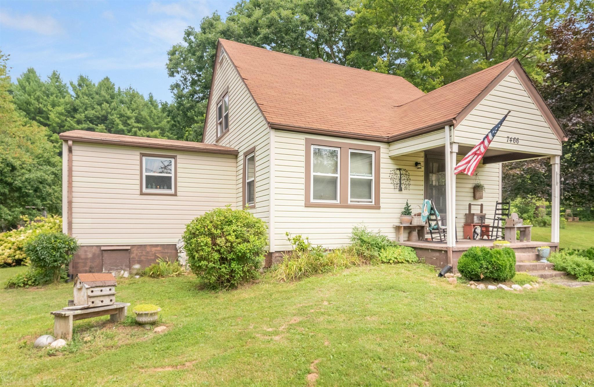 Charming cottage style home with 5+ acres. Property features creek, spring and is minutes away from town of Floyd. Property used to be a herb garden business, bring your green thumb and create the garden of your dreams. Come see all the charm this property has to offer with your own eyes!