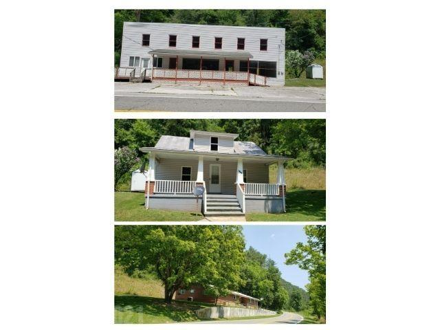 OPORTUNITIES are great 3 properties ALL 1  *Brick Ranch home with 3 bed, 2 bath that is 2335 sq. ft.,  *Cape Cod  1 bed 1 bath 891 sq. ft. AND  *2 story store building 2 baths & 4800 sq. ft. that offer tons of possibilities.  All this at a very reasonable price!  Make your own impact on the community with this piece of local history. This was the Rogers general store and once considered the heart of the area. **Store building has a the past 5 years had a rolled rubber roofing also has a heat pump, newer water heater offers a kitchen and 2 bathrooms and a tons of space for your dreams there are soooo many POSSABILITIES   **Cape Cop house has 1 bed & 1 bath, ac/heat unit along with a newer water heater, metal roofing and nice storage building  **Ranch house has 3 bed, 2 bath, hardwood floors, metal roofing, Carrier heat/ac,  and a storage building  **property sold AS IS Where is