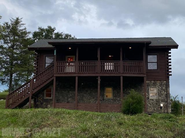 This Amazing Log Style Home is on 7 Acres with 1200 Feet of River Frontage on the Little River! Enjoy Breathtaking Views, Privacy and Country Living at its Best. Located in the Auburn School District this Home sits on Top of a Ridge that overlooks the River, Surrounding Mountains, and is not in the flood zone. With 2128 Sq.Ft, of Living Space other features include: Maple Hardwoods, Ceramic Tile, New Carpeting, and New Vinyl Flooring.  This is Move in Ready! The other Upgrades includes: Stained Exterior, New Interior Paint, Kitchen Island with Glass Stove Top, Stainless Fridge, Porcelain Kitchen Sink, Covered Front Porch, Double Door from Bonus Room Leading to Parking Area, Two Walking Trails to River Area for Camping, Canoeing, Fishing, Hiking and a Sloped Mountain side for Hunting. Storage Shed and Small Pond are on Property. Radford/Christiansburg 10 Minutes and Blacksburg is 25 Away. Call Today to set up YOUR Tour of this Fabulous House and the Recreation the River has to offer!