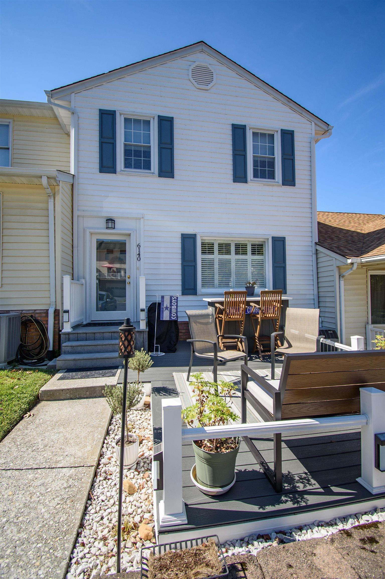 Well taken care of 2 bedroom 2.5 bath townhome located in a quiet neighborhood. Home features: bar area for entertainment, sunroom on main with french doors, LED lightbulbs in all fixtures, updated master bedroom, exterior front deck with bar.