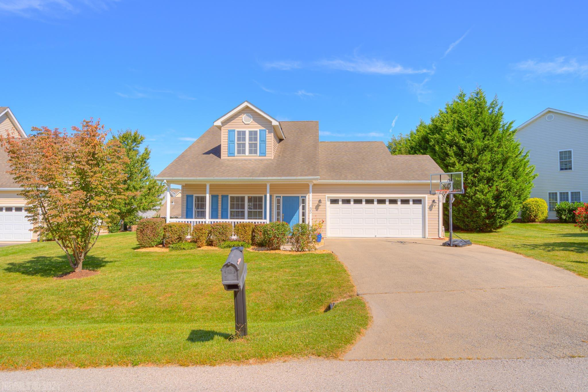 Whether it's a leisurely bike ride on the Huckleberry Trail, an afternoon shopping, or dinner at Christiansburg's newest restaurants, it's within just a couple of minutes from 35 Katie Lane. Inside this well-appointed four-bedroom home you'll find main level living with vaulted ceilings and a large kitchen with granite counters and knee wall, downlit cabinets, and stainless appliances. The main level bedroom has a vaulted ceiling, with dual vanities in the bath, while upstairs there are three bedrooms and a bath. Whether you're inside this four bedroom home, or outside enjoying the fenced backyard and quiet cul-de-sac location, there's something for everyone here.