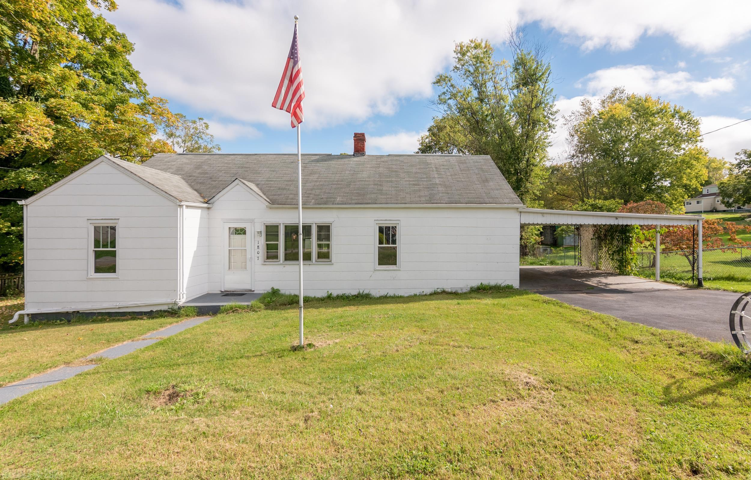 Investor special with flat, fenced yard in Radford! The work has already begun with a general cleanout, plumbing repair, and a new sump pump in the basement. Hardwoods throughout just waiting for refinishing. Priced below tax assessed value. Sold as-is.