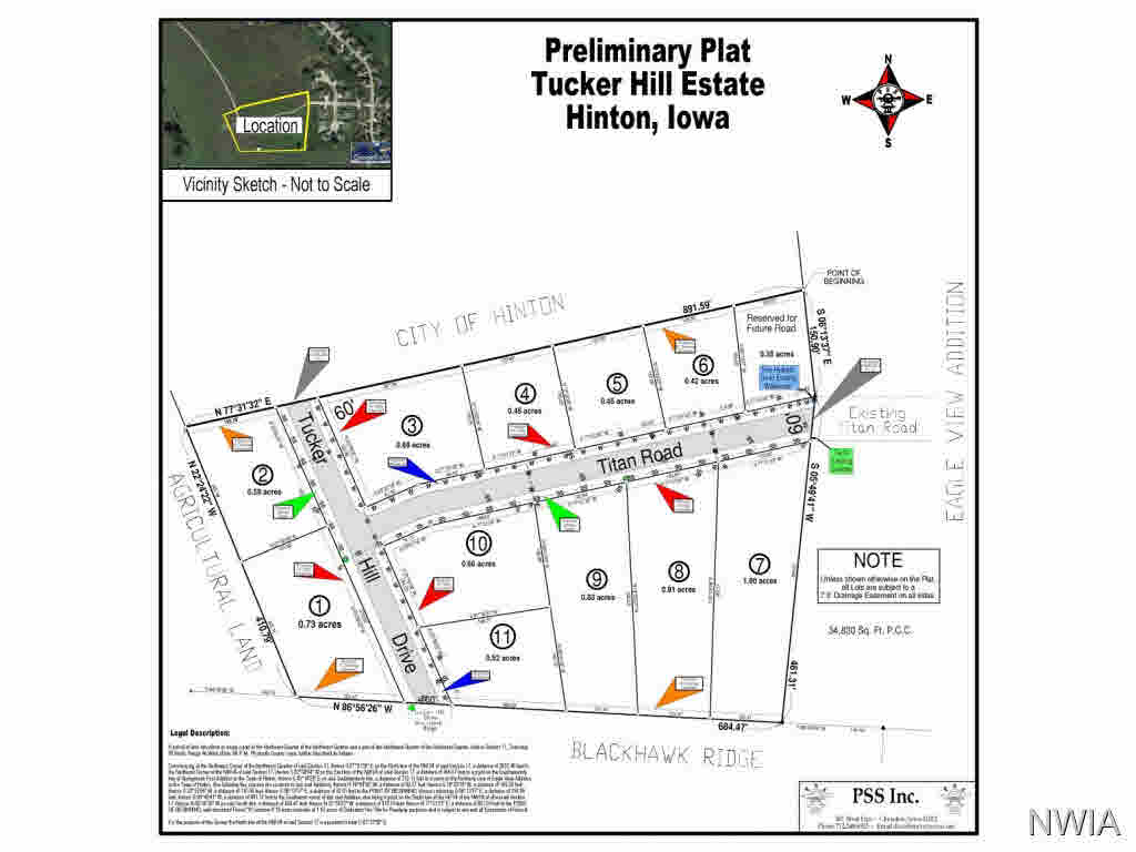 Property for sale at Lot 8 Tucker Hill Drive, Hinton,  Iowa 51024
