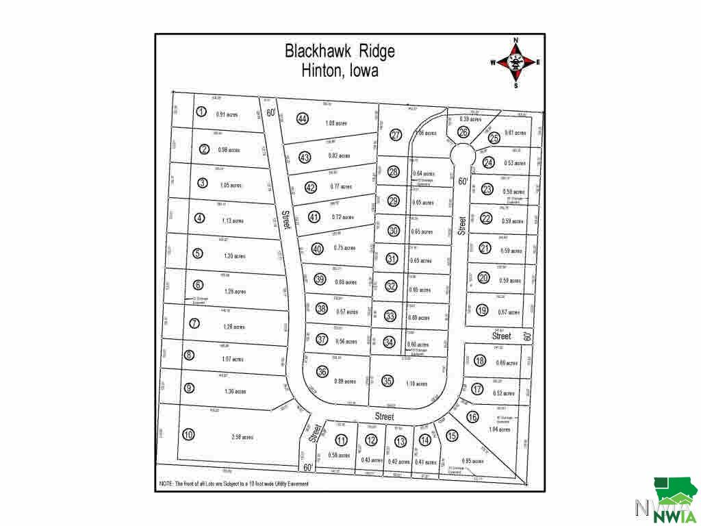 Property for sale at Lot 21 Blackhawk Ridge, Hinton,  Iowa 51024